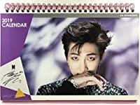 RM アールエム - RAP MONSTER ラップモンスター - BTS 防弾少年団 グッズ / 2019年 - 2020年 (2年分) 卓上 カレンダー + ステッカー シール 1枚セット - 2019-2020 Desk Calendar + Sticker 1sheet [TradePlace K-POP 韓国製]