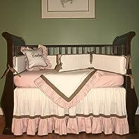 Hoohobbers 4-Piece Crib Bedding, Classic Pink by Hoohobbers
