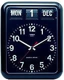 TWEMCO (トゥエンコ) 掛け時計 パーペチュアルカレンダー機能 BQ-12A Black