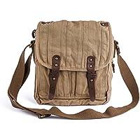 Gootium Vintage Canvas Messenger Bag Small Unisex Shoulder Satchel