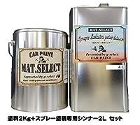 g-select 自動車塗装用1液ウレタン艶消塗料 「MAT.SELECT」 冬型スプレー用シンナー付ミリタリーカラー 【M-7】ダークイエロー4Kg缶&シンナー4Lセット