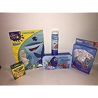 Finding Dory 5 PieceバンドルIncludesスタンプアクティビティセット、ストレージボックスColoring Book、24クレヨン、Bubbles