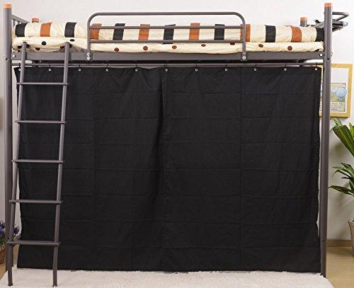 UNE BONNE(ウネボネ) はしご・カーテン仕切り・コンセント付き 省スペース ロフトベッド 一人暮らし用 二段ベッド シングルベッドフレーム BROWN