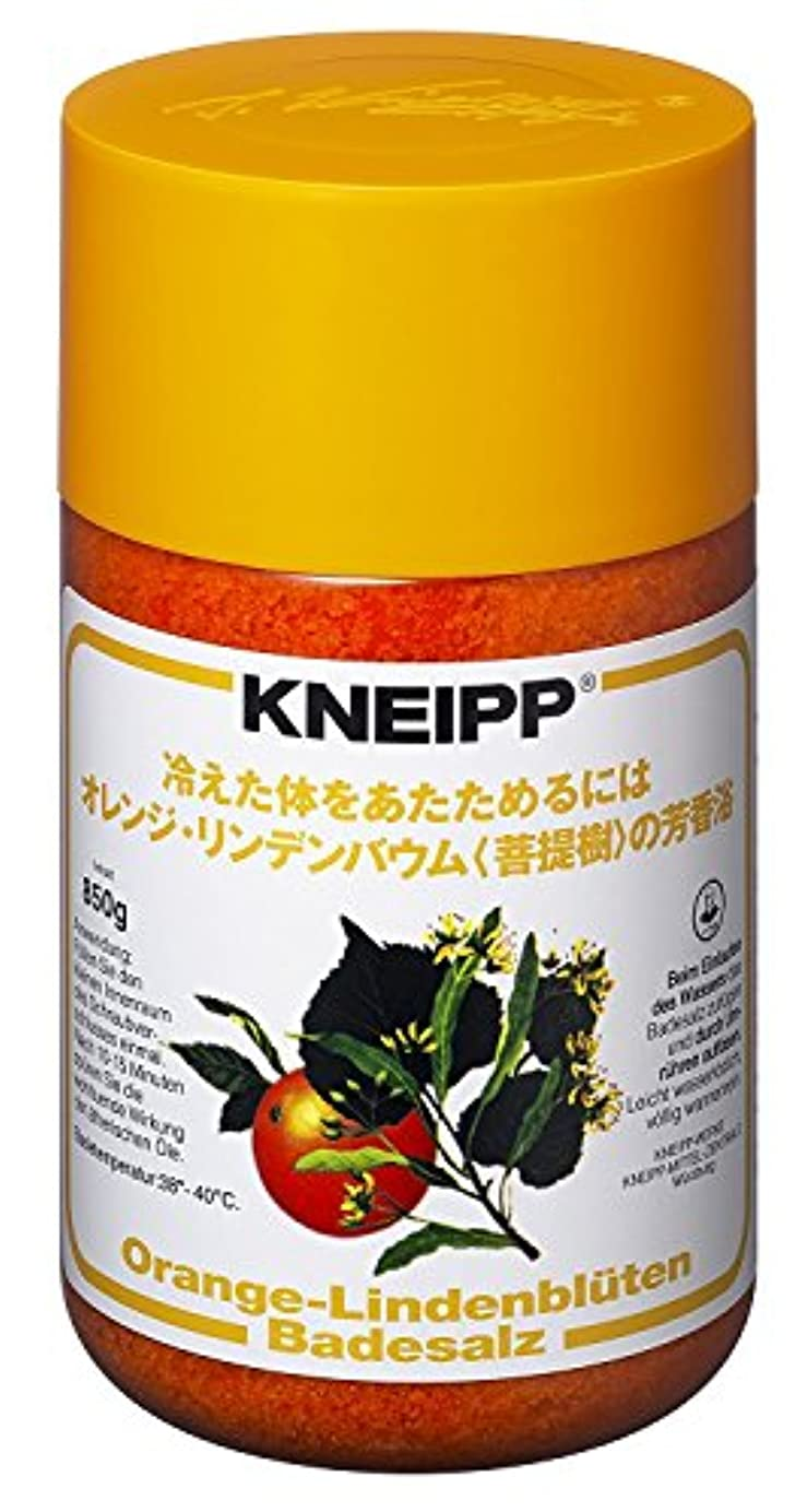 インテリアデッド孤独なクナイプ バスソルト オレンジ?リンデンバウム<菩提樹>の香り 850g