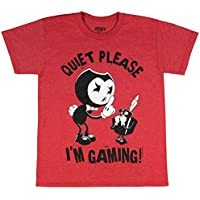 Bendy and the Ink Machine Big Boys' Shirt Quiet Please Youth T-Shirt
