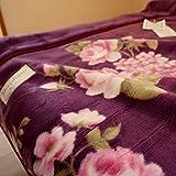 西川 毛布 シングル 日本製 アクリル毛布 [AA1176 エンジ] 2枚合わせ毛布 (エンジ)