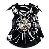 Superman VS Batman Art Vinyl Wall Clock Gift - Best Reviews Guide