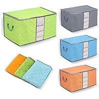 Yosoo 衣類ケース 不織布の布団収納袋 コンパクトに入る 炭入り消臭効能 折り畳み式 毛布収納 大容量 3枚