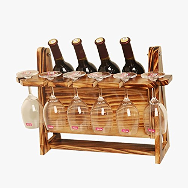 ワインラック、ワインラック収納ラック木製ワインラックディスプレイスタンド、4色 (色 : C)