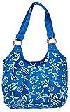 ハワイアン バッグ ショルダー シェル ブルー ホワイト スターフィッシュ 雑貨 フラダンス (ネイビー)