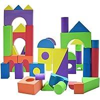 大型フォームブロック キッズ用のおもちゃ 幼児向けの理想的ブロック 積立玩具 いろいろな形やサイズのブロックが50個 防水性 無害