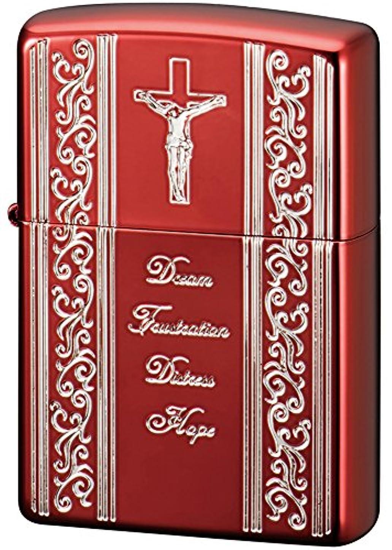 キリスト男やもめ解釈的ZIPPO(ジッポー) ライター 200 スピリッツオブレッド キリスト レッド