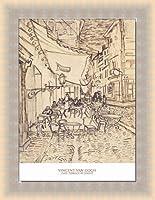ポスター フィンセント ファン ゴッホ Cafe Terrace at Night 1888 額装品 ラルゴフレーム(ゴールド)