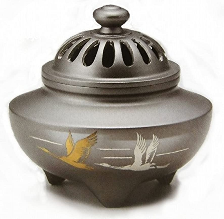 拒絶する北東非行『玉利久双鶴香炉』銅製