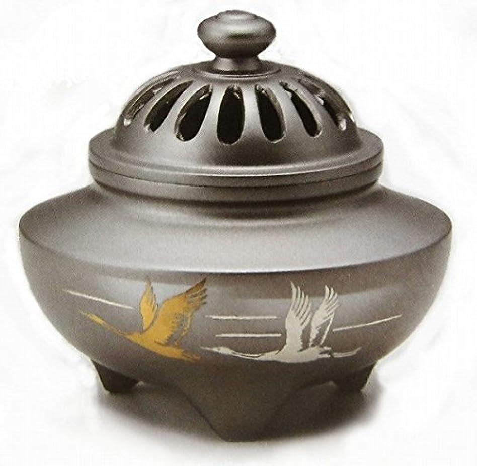 良心的事業内容振り向く『玉利久双鶴香炉』銅製