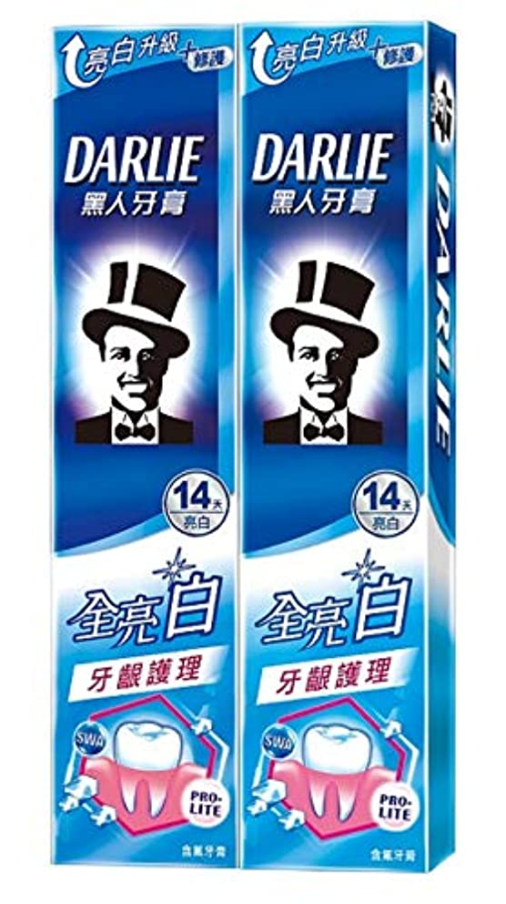 代表団グラス元気黑人全亮白牙齦護理牙膏 歯茎ケア 歯磨き粉 140g×2個 [並行輸入品]