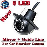 Auto Wayfeng® 8 モニタカメラを駐車するためのLED HD CCD車後ろ眺めカメラ夜のビジョン広範囲角度車後ろ眺めカメラ車リバースバックアップ