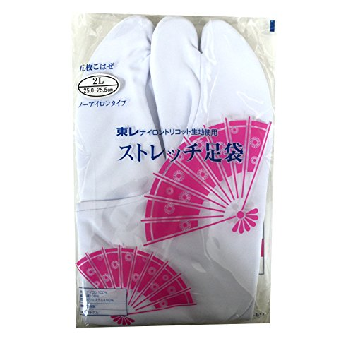 足袋 白 東レのストレッチ たび 足に優しい 履きやすい レディース 女性 sutorettitabi LL 25~25.5cm