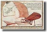 Leonardo Da Vinci–彼らはアウトとHappened to Things–教室Motivational Poster