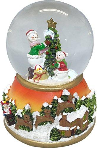 丸和貿易 置物・オブジェ LEDライト&ミュージック/スノーマン 9.3×9.3×12.5cm スノードーム 400854702