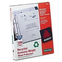 Avery : top-load再生ポリプロピレンシートプロテクター、文字、100/ボックス–: -の2パックとして販売–100–/–Total of 200各