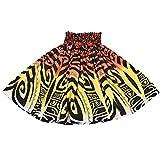 DFギャラリー パウスカート フラ ダンス衣装 レッスン着 シングル ティキ タパ JB77169 70cm丈 オレンジxイエロー