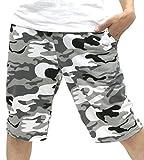 Nylaus(ナイラス) ショートパンツ メンズ 迷彩 柄 裏毛 スウェット 素材 ブラック M