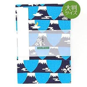 【大判サイズ】御朱印帳(納経帳) FUJIYAMA(水色) 蛇腹タイプ