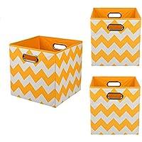 Modern Littles Organization Bundle Storage Bins, Bold Orange Chevron, 3 Count by Modern Littles