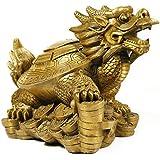 JOYS CLOTHING 純粋な銅のゴシップドラゴンマネータートル家具の装飾。 (Color : 金色)