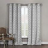 "Duck River Textile Heavy Blackout Darkening Window Curtain 2 Panels, Premium Quality, Grey, 36 x 96"""