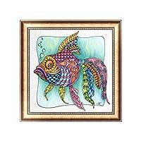 Daeum 5d diyダイヤモンド絵画金魚刺繍クロスクラフトステッチ家の装飾アート,30*30cm