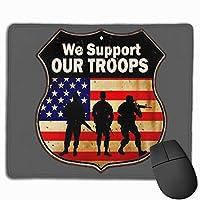 私達は私達の軍隊を支持する マウスパッド 25×30 大判 ノンスリップ 防水 ゲーミング おしゃれ マウスの精密度を上がる