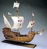 帆船模型キット AM1409 サンタマリア (木製模型ツールセット 60分の帆船模型製作入門DVD及び和訳付き)