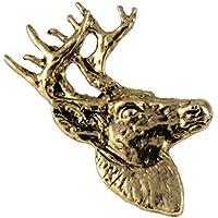クリエイティブピューターDesigns、Whitetail Deer Head 3 / 4ビュー手作り野生生物マグネット、24 Kゴールドメッキ、mg008 m
