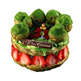 クリスマスケーキ 2017 チョコレートケーキ イチゴと宇治抹茶ショコラのパリ・ブレスト ギフト プレゼント