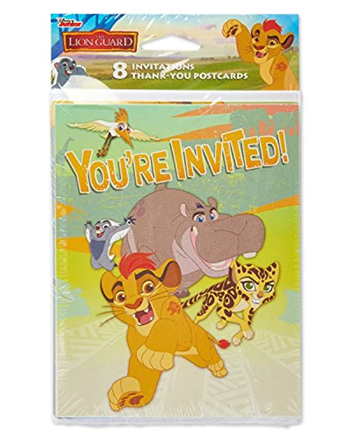 端皮肉状況The Lion Guard Invitations and Thank You Notes w/ Envelopes (8ct ea.)