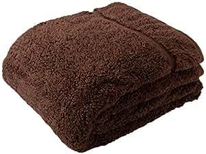 Heat Warm ( ヒートウォーム ) 毛布 発熱 あったか2枚合わせ シングル ブラウン 40220106