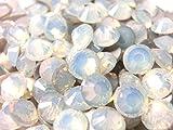 【ラインストーン77】 ガラス製ラインストーン ホワイトオパール 各サイズ選択可能 スワロフスキー (4.0mm (SS16) 約150粒)