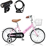 RayChell(レイチェル) 子ども用自転車 16インチ KB-16R ピンク/ブラック 2点セット