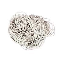 【ノーブランド品】 16色 1.5mm 80m ロープ 糸 紐 ネックレス・ヴレスレット用コード ワックスコットンコード ビーズスレッド  手芸 ジュエリー - 白