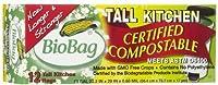 海外直送品BioBag Tall Kitchen Waste Bag, 12 CT (Pack of 6)