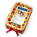 生クリームのショートケーキ インスタグラム風フレーム写真ケーキ