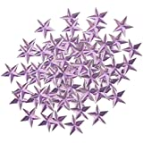 Fenteer 約100個 スタービーズ 紙吹雪 20mm 装飾 プラスチック製 お祝い 2色選べる - 紫