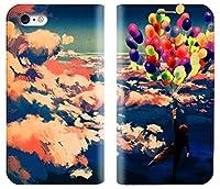 【アイ・ラブ・ショップ】 ILOVE SHOP iPhone&Glaxy 虹のバルーンに乗って空を飛ぶ少年手帳型デザイナーケース.MR.4017 (Galaxy s6エッジ-g925) [並行輸入品]