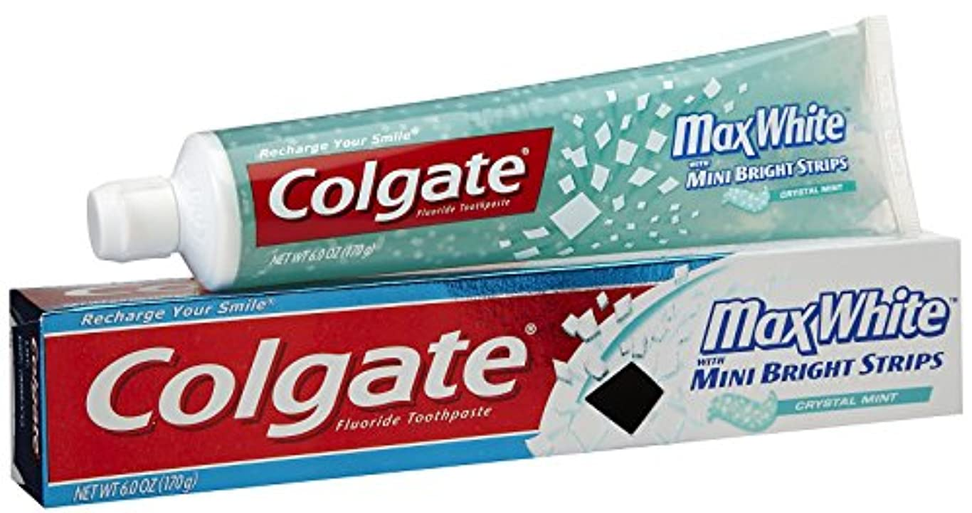 肥料合併請願者Colgate ミニブレスストリップ-6オンスクリスタルミントハミガキ