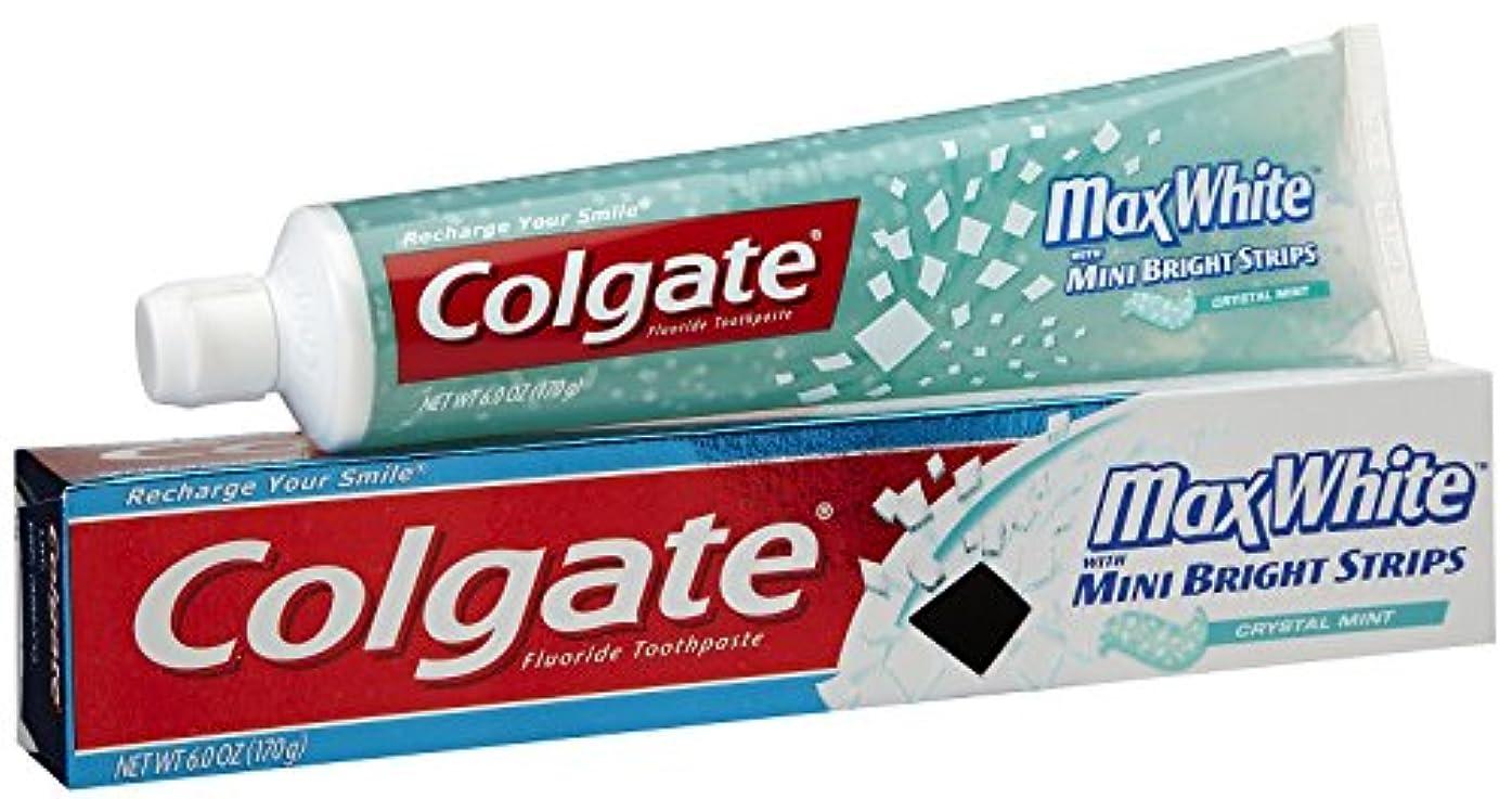 マットレスなぜ忌まわしいColgate ミニブレスストリップ-6オンスクリスタルミントハミガキ