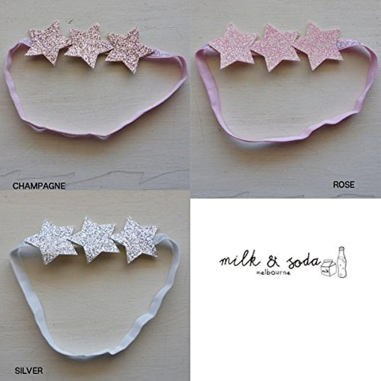 MILK&SODA(ミルク&ソーダ) GLITTER STARS BAND カチューム ヘアバンド ヘアゴム リボン F,ROSE