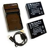 【 6ヶ月保証 】 パナソニック DMW-BLE9 / DMW-BLG10 *2個 + USB充電器 セット 互換バッテリー Panasonic Lumix DMC-GF3 / DMC-GF5 / DMC-GF6 / DMC-LX100 ...Nucleus Power製(BLE9*2+充電器)