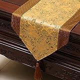 テーブルランナー ホームデコレーション 中国スタイル 工芸品 おしゃれ 結婚式 パーティー エレガント モダン シンプル (PATTERN : 05, Size : 33*230cm)